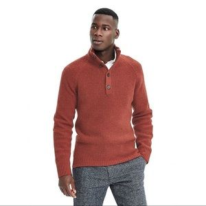 Knitted Italian Yarn Brick Red Sweater